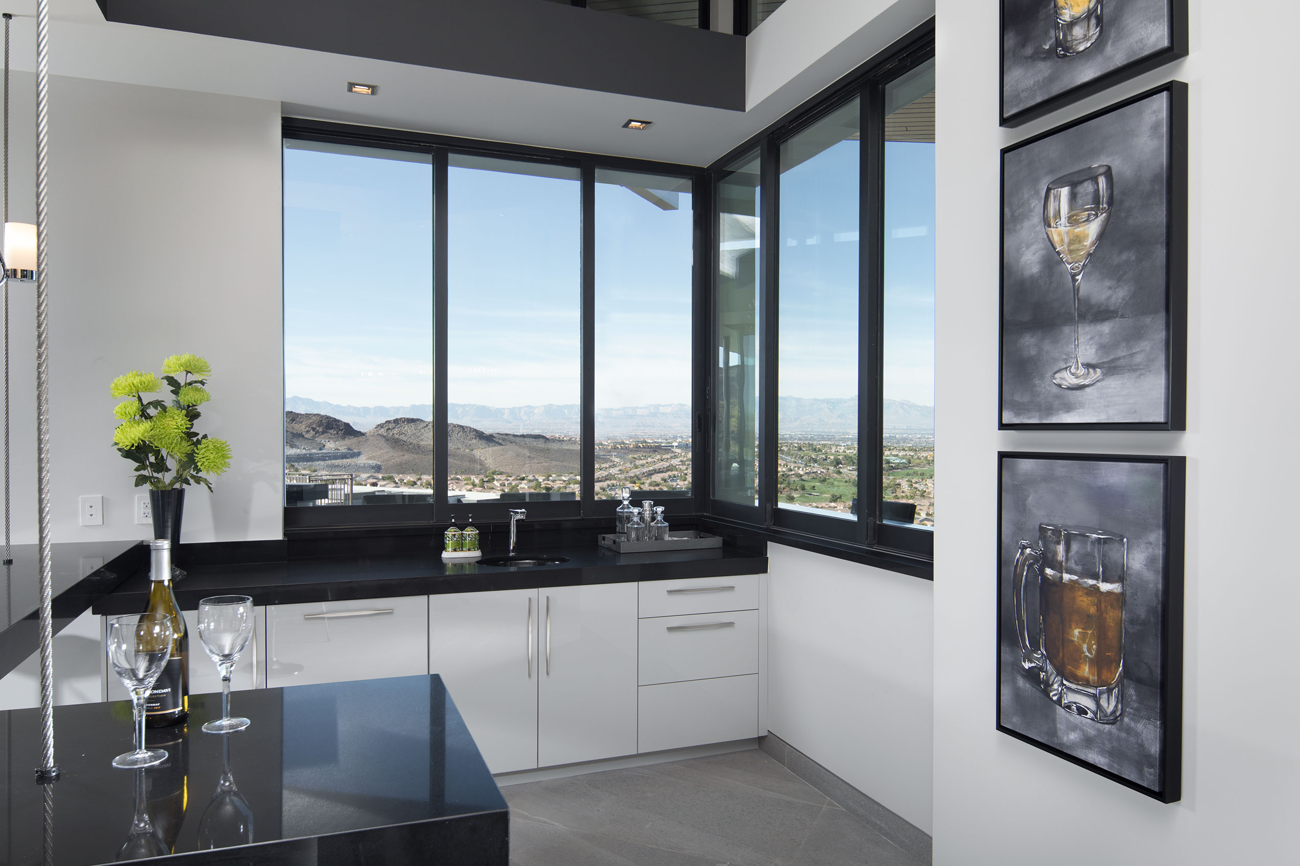 Western Window Systems products help give the rooms a clean, contemporary look.