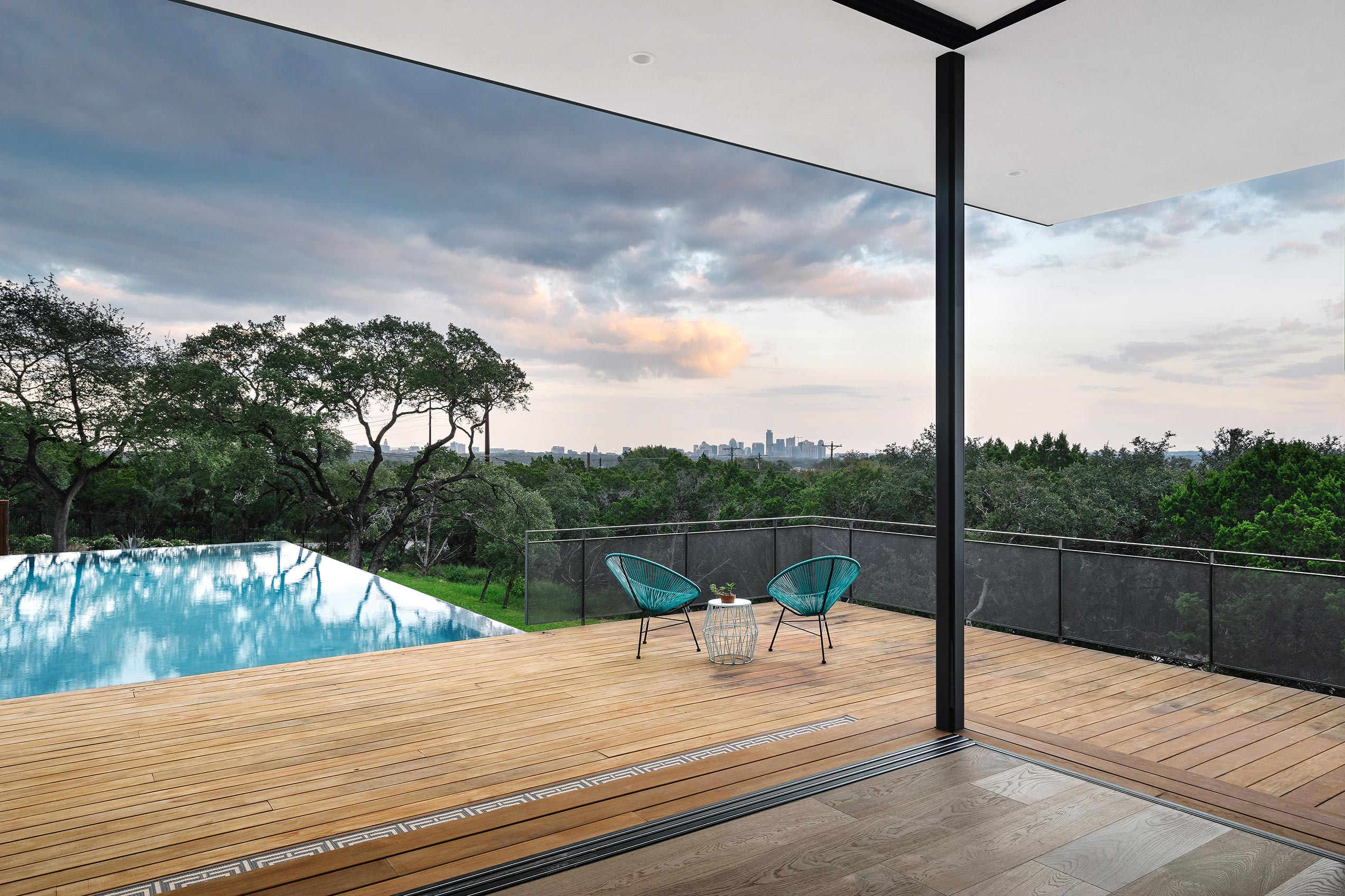 The Austin skyline is visible from virtually anywhere in the house.