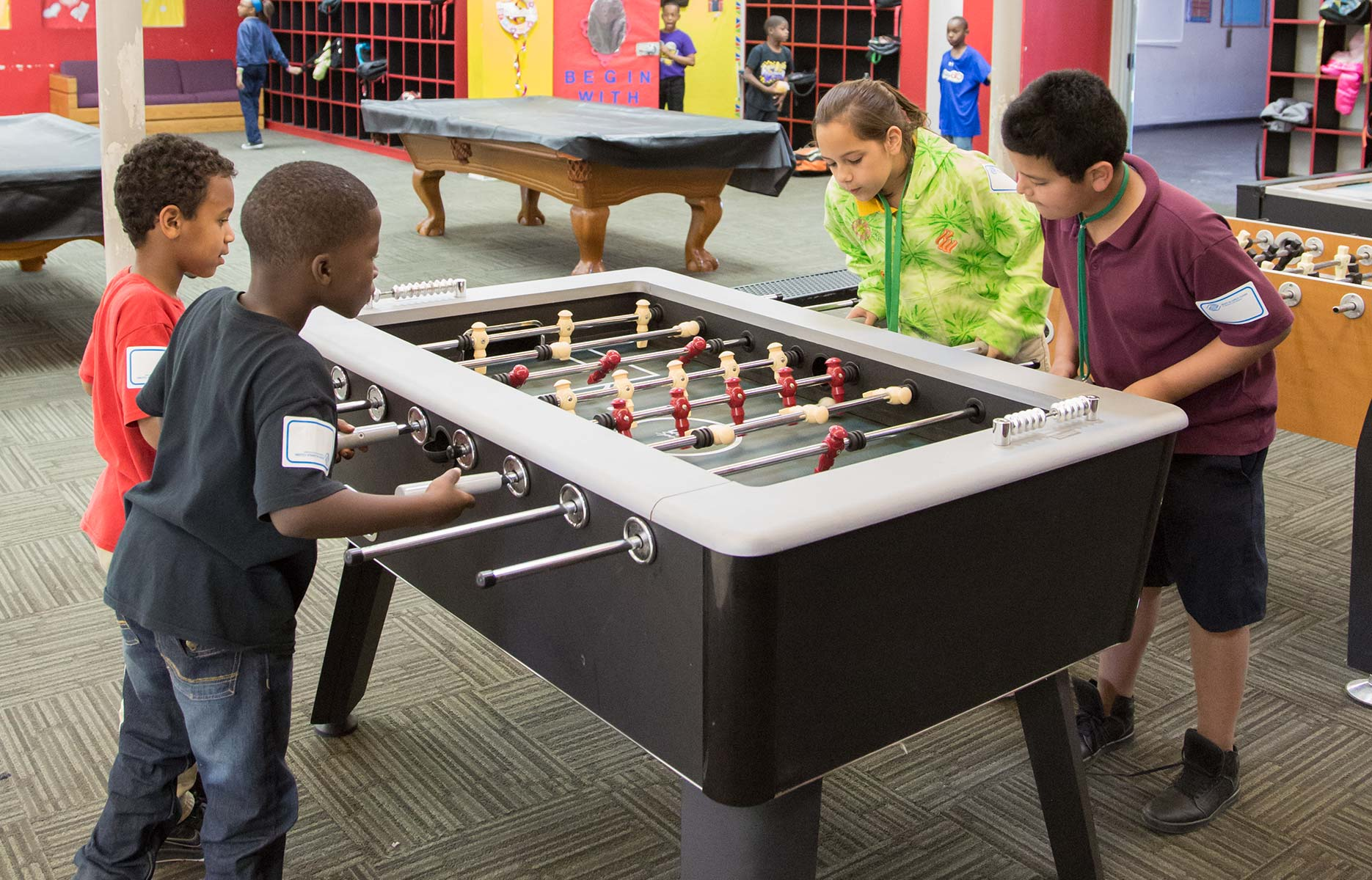 WWS Donates Foosball Table to Boys & Girls Clubs