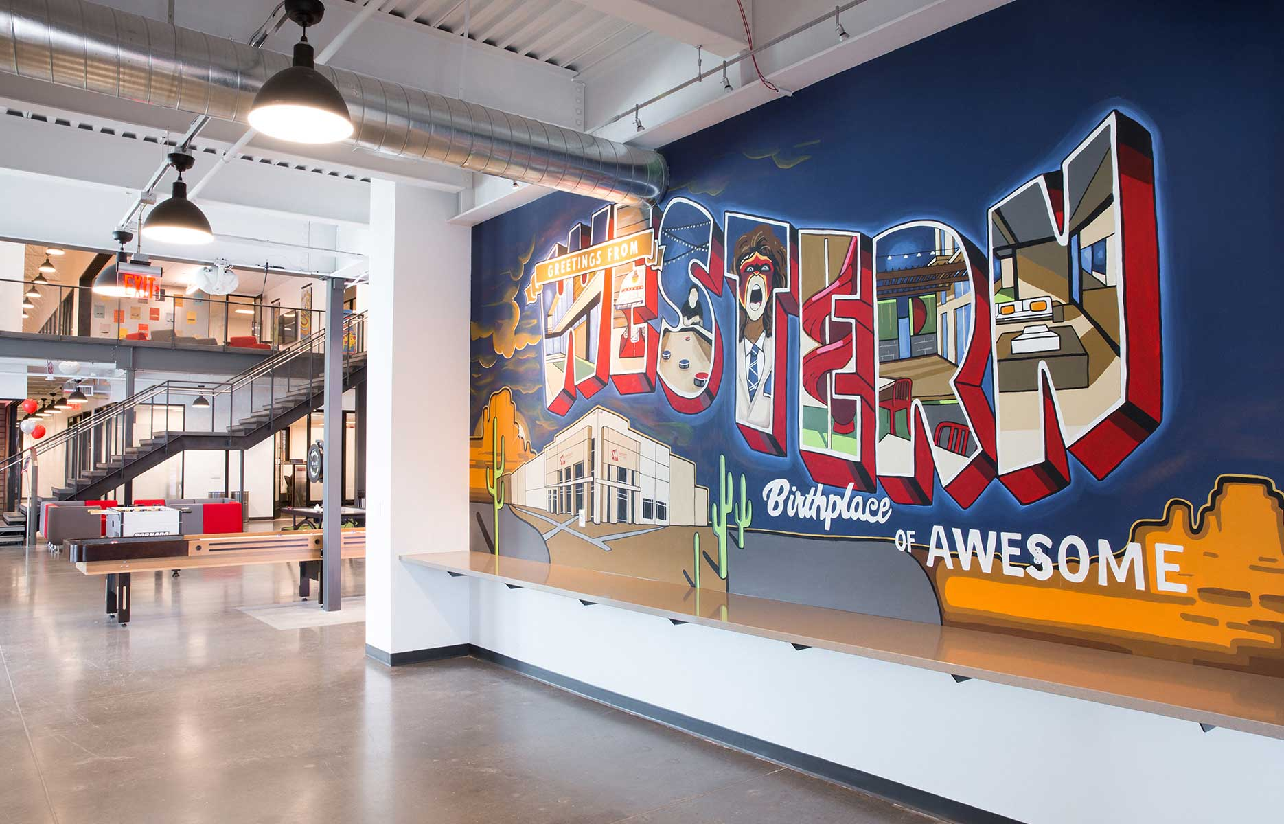 Color Scheme: Gilbert Artist's Mural Matches Vibrancy of Local Manufacturer's New Headquarters
