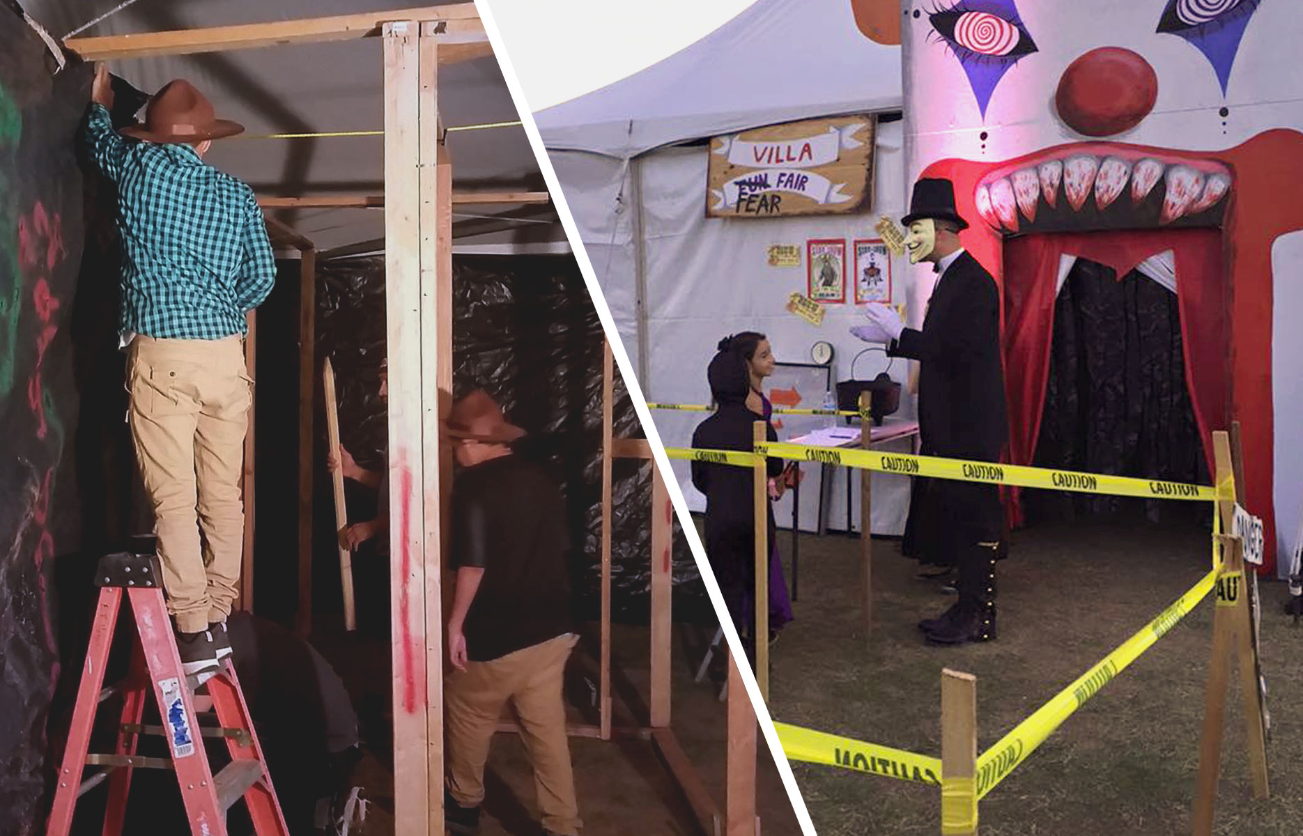 Western Window Systems Donates Lumber for School's Annual Haunted House Attraction