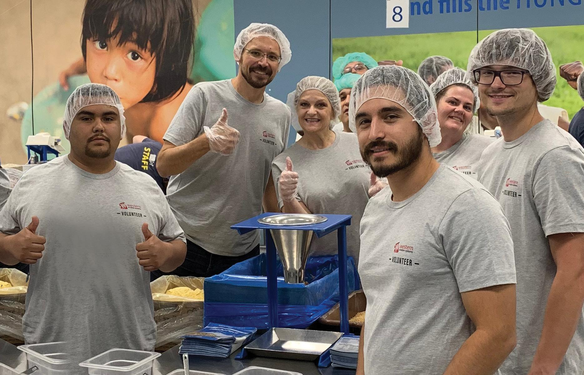 WWS Volunteers Help Feed Starving Children Worldwide